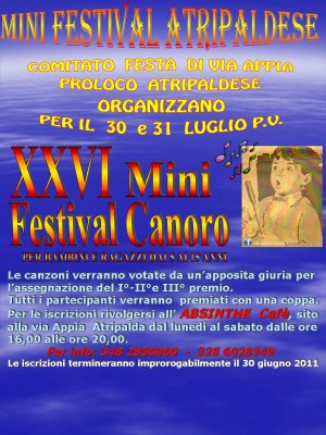 XXVI mini festival canoro
