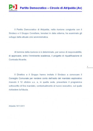 documento-pd-ultimatum-al-sindaco
