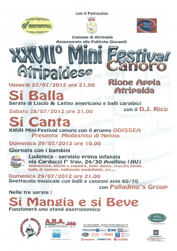manifesto-2012 minifestival via appia