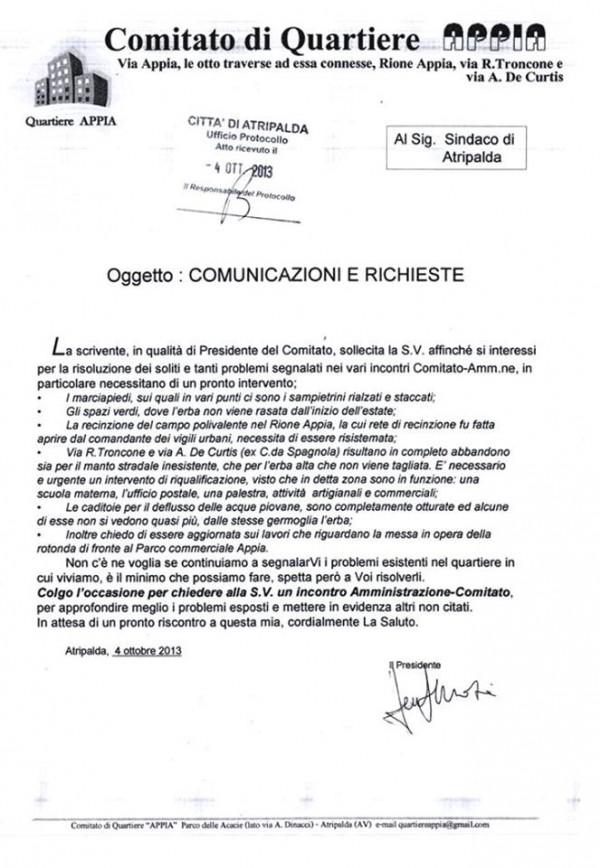 comitato-appia-nuova-lettera-al-sindaco
