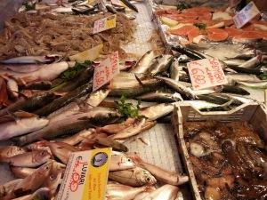 Bancarella del pesce di Natale ad Atripalda