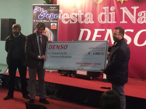 La Denso dona al Comune 5 mila euro