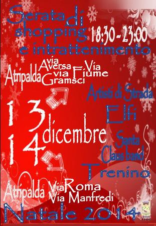 Locandina Notti Bianche Natale 2014 Atripalda