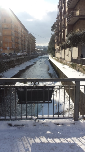 Nevicata Capodanno 2014 fiume Sabato
