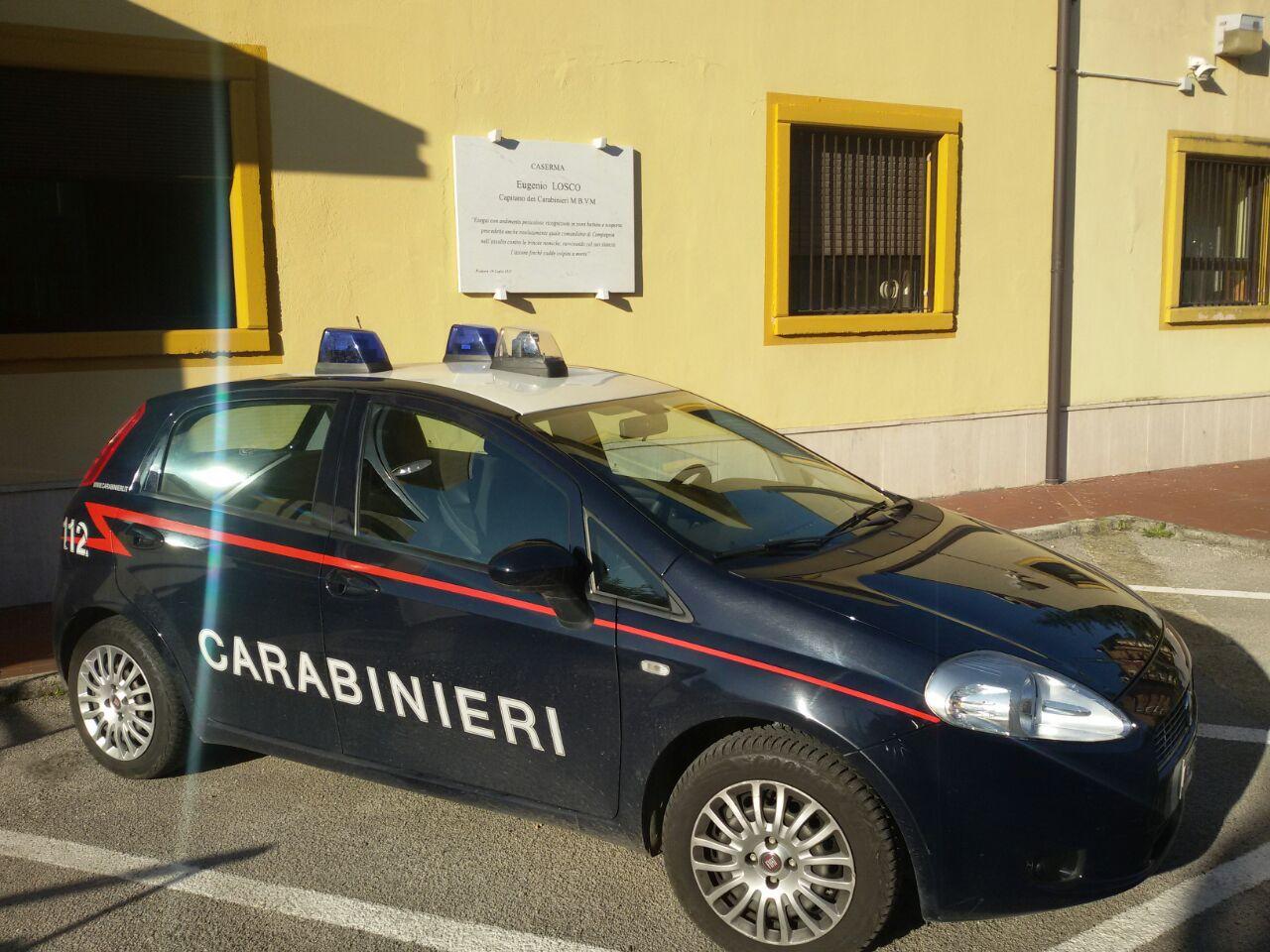 Stazione carabinieri atripalda, auto
