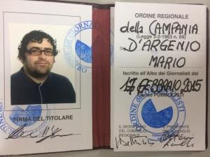 Tesserino Mario D'Argenio