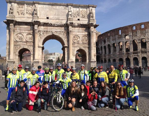 Amatori della bici a Roma1
