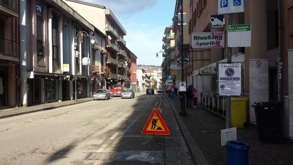 Lavori lungo via Roma, divieto di sosta1