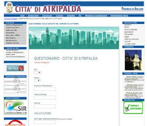 Questionario di valutazione online del Comune