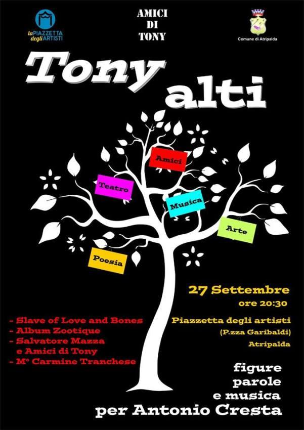 Locandina Tony Alti - 2015