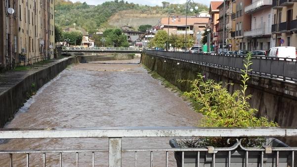 Maltempo, fiume Sabato