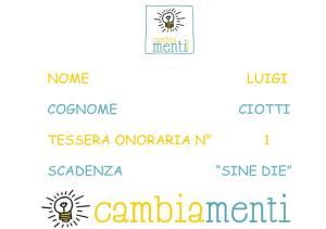 Tessera Cambia-menti don Ciotti