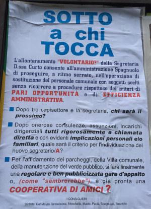 Trasferimento Curto, manifesto opposizione