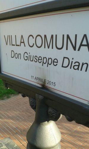 Atto vandalico targa don Peppe Diana2