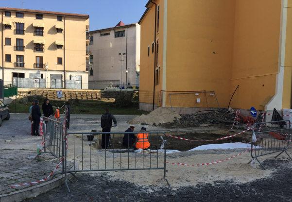 Scavi in piazza Garibaldi