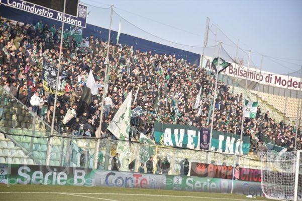 Modena-Avellino, tifosi della Sud