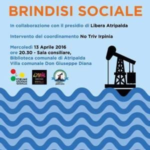 Brindisi sociale per il referendum del 17 aprile 2016
