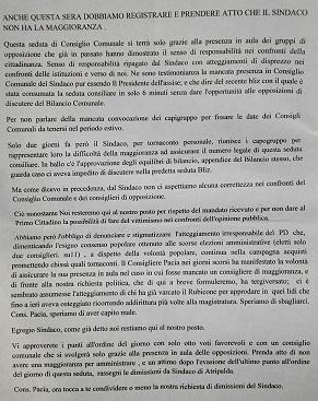 Dichiarazione di voto Udc