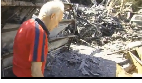 Mast'Antonio Urciuoli nello scasso incendiato