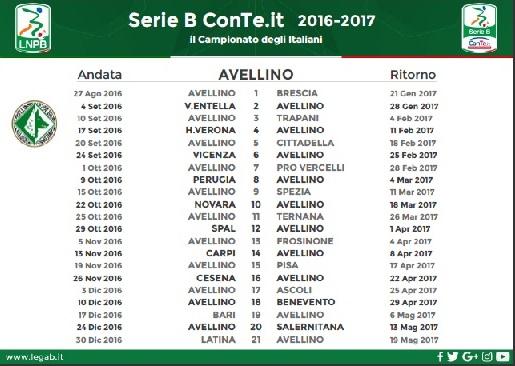 Calendario-Serie-B-Avellino-2016-17